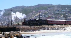 An extremely popular activity for the to enjoy together. Enjoy a day out exploring the Cape Peninsula by steam train run by the Atlantic Rail. Steam Train Rides, South African Railways, Beautiful World, Beautiful Places, Ocean Aquarium, Dream City, Busses, Holiday Activities, Train Travel