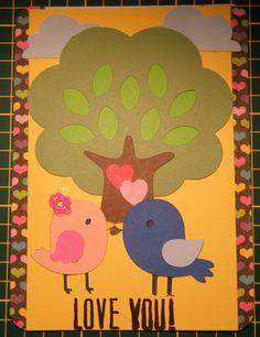 Love Birds Valentine's Day card