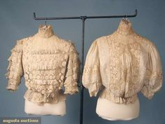 Two Lawn & Lace Summer Blouses, C. 1905, Augusta Auctions, March 2010 NYC, Lot 204