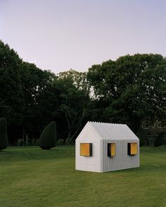 The Chameleon Cabin, created by Happy Forsman and Bodenfors, is not what it seems. From one angle it looks white, from another it's black - and those marble walls are actually made of paper...