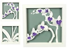 DIY Free printable and instructions Ashbee Design Silhouette Projects: 3-D Orchid Shadow Box