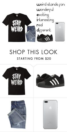 """""""STAY WEIRD."""" by hdflynn10 ❤ liked on Polyvore featuring adidas"""