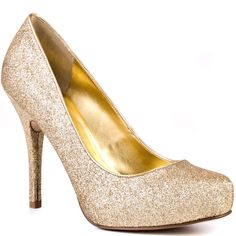 gold womens couture shoes | Guess Carrielee 4 Gold Evening Womens Designer Shoes Pointed Toe Pumps ...
