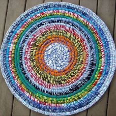 Crocheted Coiled Tshirt Rug By Bethmoscreations On Etsy