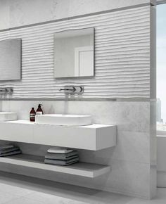 """VERUS"" Calacatta Marble tiles - Bathroom Design.  #bathroom #design #modern #miami #covering #tiles #marble #vanities"