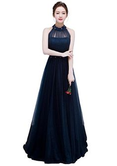 YORFORMALS Halter Floor Length Beaded Tulle Long Prom Dre... https://www.amazon.com/dp/B01M4FKJ00/ref=cm_sw_r_pi_dp_x_9RuhybYCYM3FA