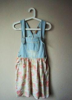 jeansowa sukienka - ogrodniczki