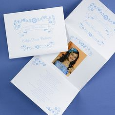 Flirty Flowers - Invitation with Photo - Quinceanera Invitations - Quinceanera Ideas