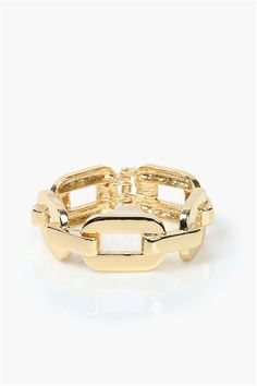 Chain Link Bangle in Gold