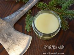 <img> Tell whiskers who& boss with this DIY BEARD BALM. Soften, moisturize, and tame unruly scrubble! Easy to make with only 4 ingredients. Beard Wax, Men Beard, Beard Oil And Balm, Beard Growth, Beard Grooming, Young Living Essential Oils, Diy Beauty, Beauty Stuff, Beauty Tips