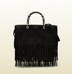 Gucci Bamboo Fringe Shopper Suede Tote on shopstyle.com