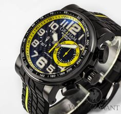 ef11ceb82cf Graham Silverstone Stowe  Yellow Racing  Chrono- 48mm PVD -  5
