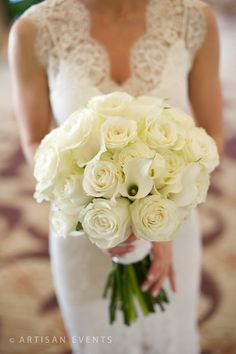 Dilly Lily All white wedding bouquet @Artisan Event Floral Decor