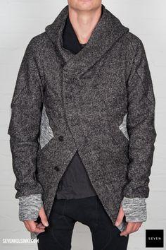 Boris Bidjan Saberi BBS CARDIGAN1-F0999 765 € | Seven Shop Cardigans, Street Wear, Fall Winter, Men Sweater, Hipster, Inspire, City, Sneakers, How To Wear