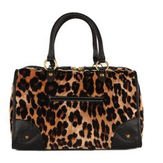 Juicy Couture Women's Wild Things Steffy Leopard Print Velour Bag ($275) ❤ liked on Polyvore
