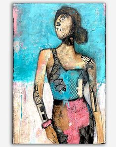 There She Goes, Mixed Media Painting, Hanging Art, Wood Boxes, Art Boards, Gallery, Artist, Artwork, Women