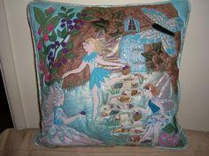 My 'Fairies' applique cushion. www.folksy.com/shops/BumbleBearsandDesigns