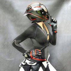 "325c9271 @katjawi92 on Instagram: ""Killin' them softly 🖤♥ Helmet: @agvhelmets  Leathersuit: @heldbikerfashion . @throttlesociety @yamahar1r6bikes  @ridingsexy ..."