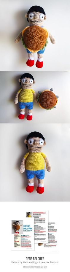 Found at Amigurumipatterns.net Bob's Burger's Gene by Ham and Eggs  $5.99
