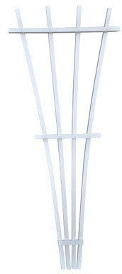 "Blue Marble 4ft Snap 'n Grow Fan Trellis 100047 by BLUE MARBLE. $11.99. Blue Marble 4Ft Snap 'N Grow Fan Trellis (100047). White plastic composite 4' Assembled dimensions: 48""H x 20""W x 1.25""D Includes mounting hardware Ready to assemble No tools required"
