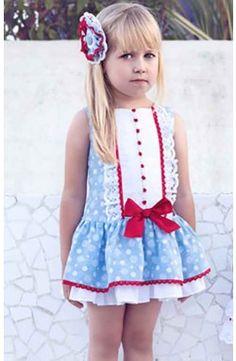 Vestido Dolce Petit de niña Primavera Verano azul