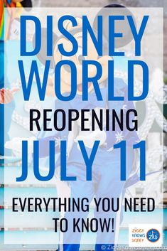 When will Disney World reopen?  We finally got the good news that Walt Disney World is reopening July 11, 2020! When it does open back up though, Disney World is going to see a lot of changes, different from when you last visited.  Read here to learn what to expect and check back often for updates.  #disney #disneyworld #disneyplanning #disneynews #travel #vacation