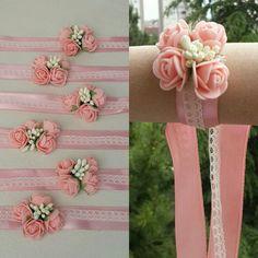 Wrist Corsage Wedding, Bridesmaid Corsage, Handmade Rakhi, Rakhi Design, Family Flowers, Bridal Cuff, Bride Bouquets, Bridal Flowers, Handmade Flowers
