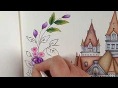 Tutorial part 3 - ROMANTIC COUNTRY coloring book - color with me - YouTube  Davlin Publishing #adultcoloring