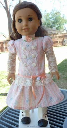 """18"""" Doll Clothes Early 1900's Style Dress for Spring Fits American Girl Rebecca, Samantha"""