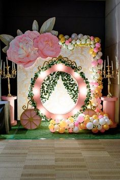 Garden Carriage Backdrop from a Fairy Princess Birthday Party on Kara's Party Id… – Best decoration ideas Princess Birthday Party Decorations, Princess Theme Birthday, Cinderella Birthday, Girl Birthday Themes, Fairy Birthday Party, Balloon Decorations Party, Birthday Diy, 1st Birthday Parties, Girl Themes