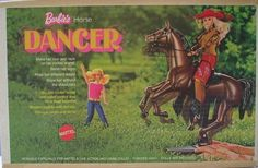 Barbie's first pet was a horse named Dancer. Since then, she has had more than 50 other pets, including 21 dogs, 6 cats, a chimpanzee, a panda, a parrot, a lion cub, a giraffe, and a zebra.