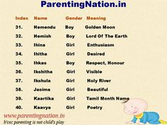 ParentingNation.in Provide You With Largest Resource Of Baby Name. Here Are Some Beautiful Tamil Baby Names With Meaning For Baby Boy And Girl. Pin The Right Name For Your Baby.