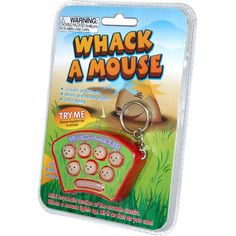 Whack-A-Mouse Keychain Game: Enjoy the mini keychain version of the arcade classic. When a mouse lights up, hit it as fast as you can! The game features mu Cool Keychains, Cute Keychain, Miniature Crafts, Miniature Food, Tupperware, Cat Allergies, Mean Cat, Barbie, Couple Jewelry