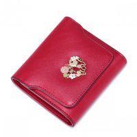 Krótki damski portfel Czerwony