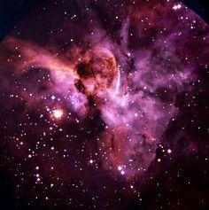 Eta Carinae and the Keyhole Nebula, part of the larger Carina Nebula ...