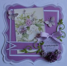 Marianne Design Cards, Flower Cards, Say Hello, Decorative Boxes, Projects To Try, Design Inspiration, Crafters Companion, Flowers, Prints