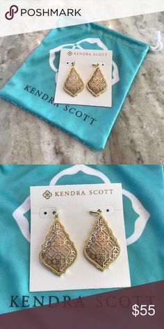 Kendra Scott Gold Drop Earrings Worn only once for a dance! Kendra Scott Jewelry Earrings