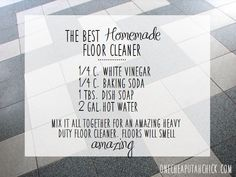 Have you been looking for an all-purpose homemade floor cleaner? This is the ultimate heavy-duty recipe that super cleans your floors!