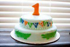 Birthday Gator cake