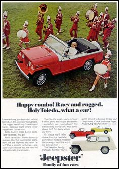 1967 print ad for the Jeepster Convertible.
