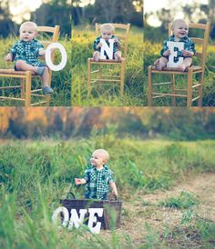 O - N - E Year Old photo-shoot in Huntington Beach, California. First birthday picture ideas. #KBrownPhotography #FirstBirthday