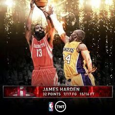 James Harden Rockets vs Los Angeles Lakers