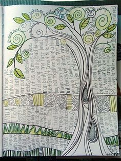 tangle tree with wording