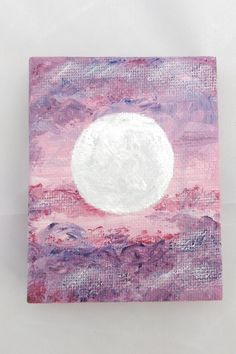 Mini Canvas Painting 3.5 x 2.5 Luna 2 Abstract by Piefingers