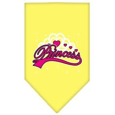 I'm a Princess Screen Print Bandana Yellow Small