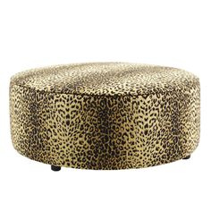 Leopard print covering an ottoman? Very interesting - Plush