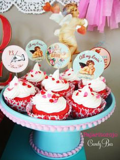 Valentine's Day Party cupcakes!  See more party ideas at CatchMyParty.com!