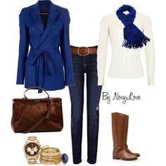 oooooo....love this combo.  Will be perfect for our Friday casual business attire.
