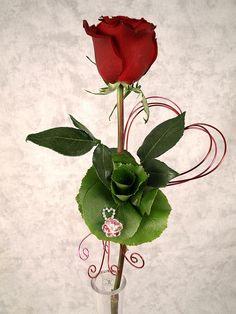 Valentine's Day Bejeweled Rose by Flower Factor, via Flickr