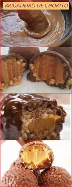 UM UPGRADE NO BRIGADEIRO DE CHOKITO NESTLE...ESSE VOCE VAI AMAR.... Em uma panela dispor o açúcar e mexer em fogo baixo por 20 minutos até formar um caramelo bem dourado. Juntar o leite condensado e mexer para incorporar. Juntar a manteiga Cupcake, Delish, French Toast, 1, Foods, Chocolate, Breakfast, Desserts, Recipes
